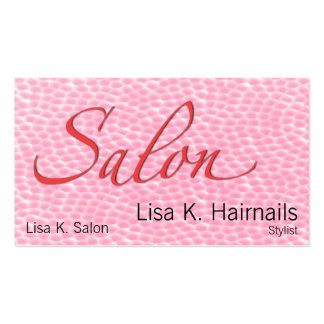 Bolhas cor-de-rosa do salão de beleza modelo cartoes de visitas