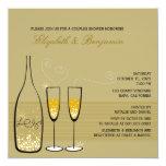 Bolhas de Champagne do ouro que Wedding o chá dos Convites