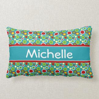 Bolhas do divertimento do verão personalizadas almofada lombar