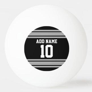Bolinha De Ping Pong A prata preta ostenta o jérsei com seus nome &