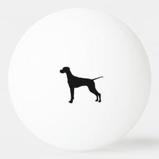 Bolinha De Ping Pong Cães do amor da silhueta do ponteiro