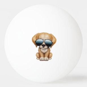 41d3c74f78448 Bolinha De Ping Pong Cão de filhote de cachorro bonito que veste óculos