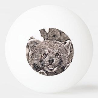 Bolinha De Ping Pong Estilo rústico - panda vermelha 2