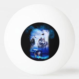 Bolinha De Ping Pong Montanha da lua do lobo da fantasia
