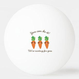 Bolinha De Ping Pong Nós estamos enraizando para você cenouras