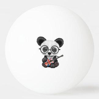 Bolinha De Ping Pong Panda do bebê que joga a guitarra britânica da