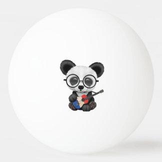 Bolinha De Ping Pong Panda do bebê que joga a guitarra francesa da