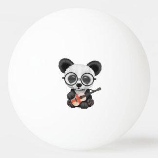 Bolinha De Ping Pong Panda do bebê que joga a guitarra inglesa da