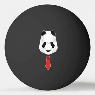 Bolinha De Ping Pong Panda que veste um laço