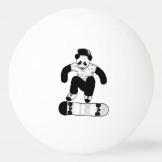 Bolinha De Ping Pong Panda Skateboarding