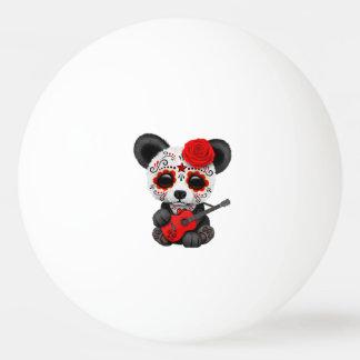 Bolinha De Ping Pong Panda vermelha do crânio do açúcar que joga a