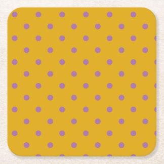 bolinhas alaranjadas roxas elegantes porta-copo de papel quadrado