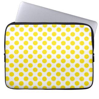 Bolinhas amarelas capa de computador notebook