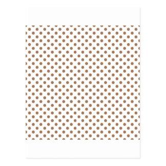 Bolinhas - au de café Lait no branco Cartões Postais