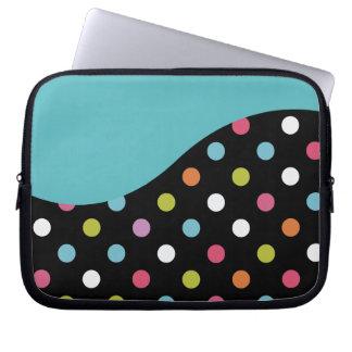 Bolinhas azuis da bolsa de laptop capas de notebook