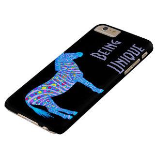 Bolinhas azuis da zebra de Z que são originais Capa Barely There Para iPhone 6 Plus