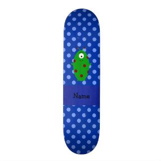 Bolinhas azuis estrangeiras conhecidas personaliza skate