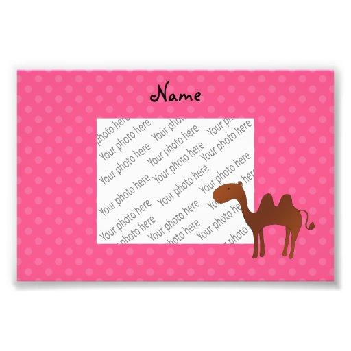 Bolinhas bonitos conhecidas personalizadas do rosa fotografias
