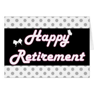 Bolinhas bonitos e aposentadoria feliz das cartão