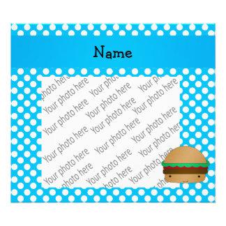 Bolinhas brancas azuis personalizadas do Hamburger Impressão De Foto
