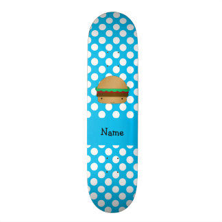 Bolinhas brancas azuis personalizadas do Hamburger Shape De Skate 18,1cm
