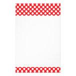 Bolinhas brancas e vermelhas papéis personalizados