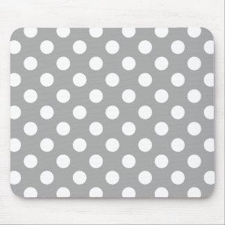 Bolinhas brancas no cinza mouse pad