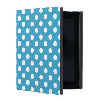 Bolinhas brancas no fundo do azul de pavão capa iPad
