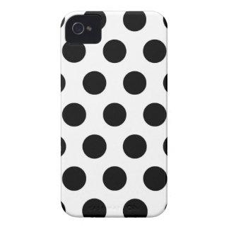 Bolinhas brancas pretas - cobrir do iPhone 4 Capa Para iPhone