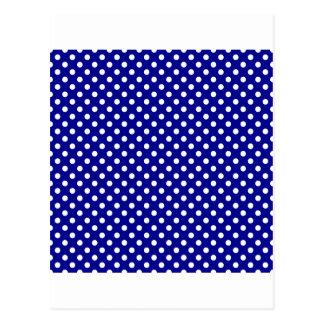 Bolinhas - branco em azul escuro cartao postal