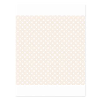 Bolinhas - branco no linho cartões postais