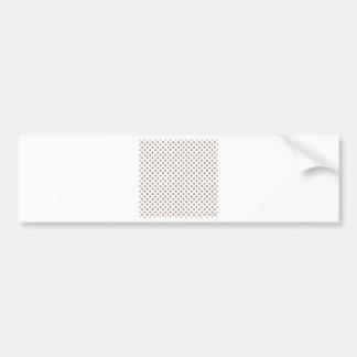 Bolinhas - castor no branco adesivo