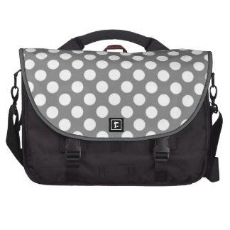 Bolinhas cinzentas bonitos maleta para notebook