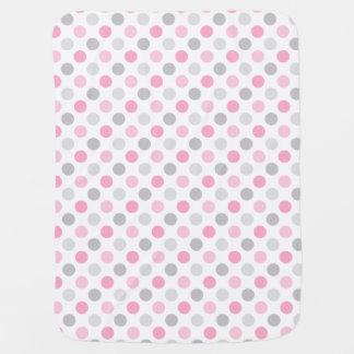 Bolinhas cinzentas cor-de-rosa mantas para bebe