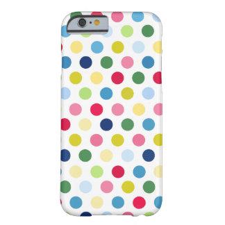 Bolinhas coloridas capa barely there para iPhone 6