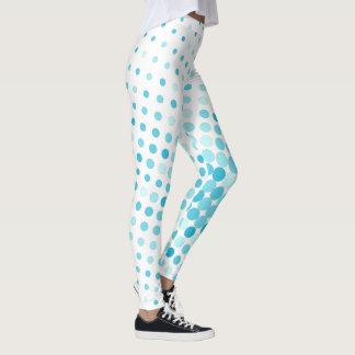 Bolinhas coloridas cerceta legging