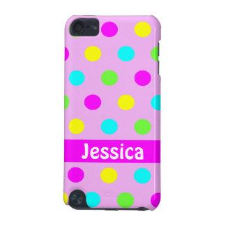 Bolinhas coloridas engraçadas - caso do ipod touch capa para iPod touch 5G