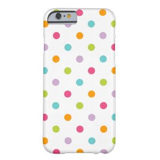 Bolinhas coloridas femininos bonitos capa barely there para iPhone 6