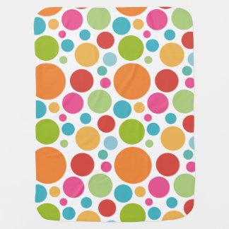 Bolinhas coloridas cobertor para bebe