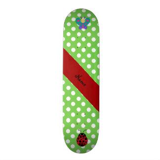 Bolinhas conhecidas feitas sob encomenda do verde  shape de skate 20,6cm
