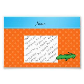 Bolinhas conhecidas personalizadas da laranja do impressão de foto