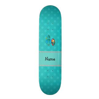 Bolinhas conhecidas personalizadas de turquesa do  skate