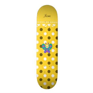 Bolinhas conhecidas personalizadas do amarelo da shape de skate 18,4cm