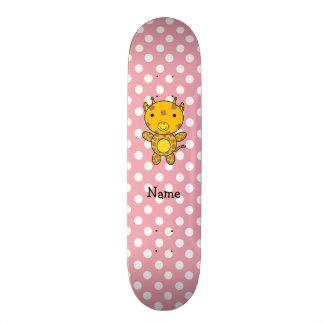 Bolinhas conhecidas personalizadas do rosa do gira shape de skate 20cm