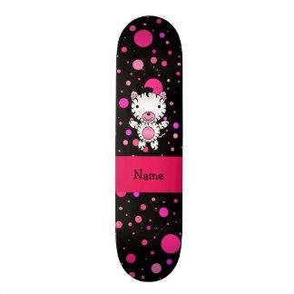 Bolinhas conhecidas personalizadas do rosa do pret skates