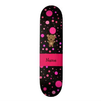Bolinhas conhecidas personalizadas do rosa do pret skate boards