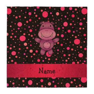 Bolinhas conhecidas personalizadas do rosa do porta copo