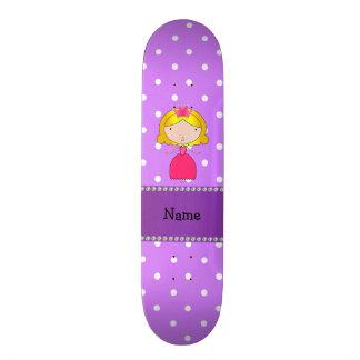 Bolinhas conhecidas personalizadas do roxo da prin shape de skate 18,7cm