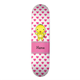 Bolinhas conhecidas personalizadas dos corações do shape de skate 21,6cm