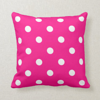 Bolinhas cor-de-rosa almofada